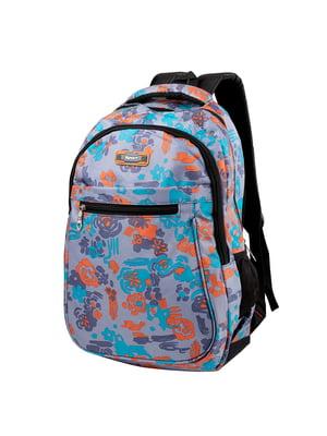 Рюкзак серый с принтом | 5285304
