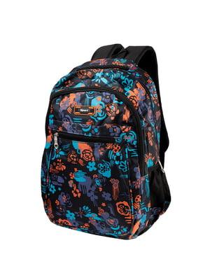 Рюкзак чорний з принтом | 5285305