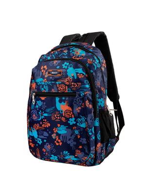 Рюкзак синий с принтом | 5285306