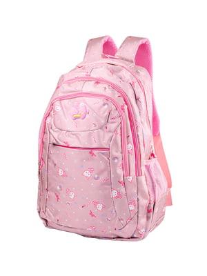 Рюкзак рожевий з принтом | 5285308