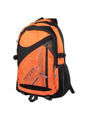 Рюкзак черно-оранжевый | 5285350