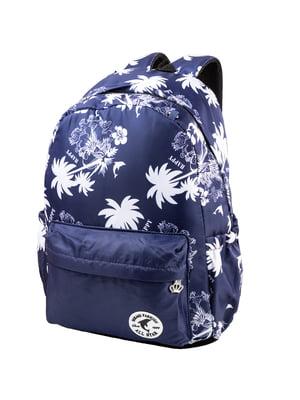 Рюкзак синий с принтом | 5285362