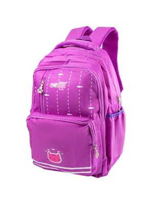 Рюкзак бузковий з принтом | 5285372