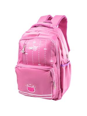 Рюкзак рожевий з принтом | 5285374