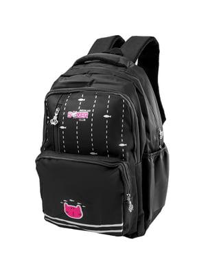 Рюкзак чорний з принтом | 5285378