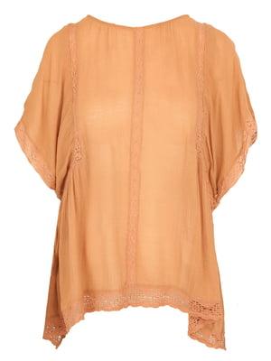 Блуза світло-коричнева | 5285361