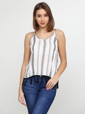 Блуза біла з принтом | 5285651
