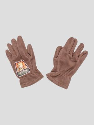 Рукавички коричневі | 5285748