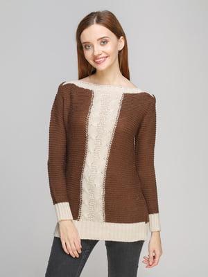 Джемпер коричнево-бежевий | 5285737