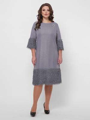 Платье серое | 5289563