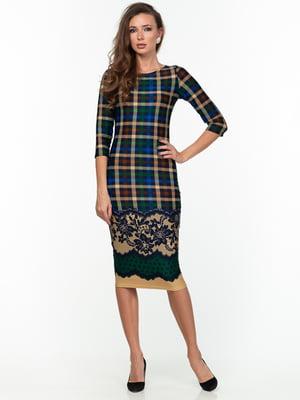 Платье комбинированной расцветки | 5289743