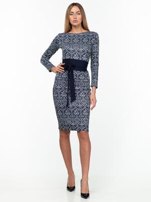 Сукня сіра з візерунком | 5289762