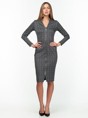 Сукня чорна з візерунком | 5289812
