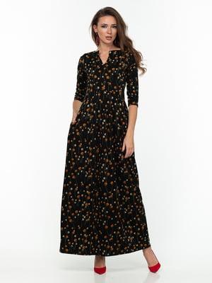 Сукня чорна з принтом | 5289821