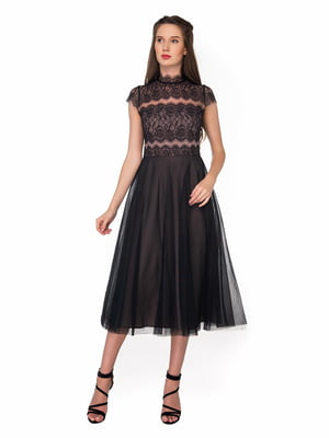 Сукня чорно-сіро-рожевого кольору   5291312