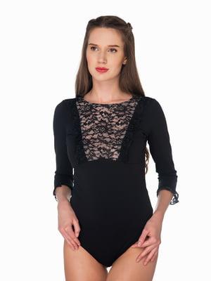 Блуза-боди черная | 5291314
