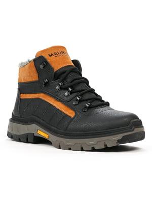 Ботинки черно-рыжие | 5290990