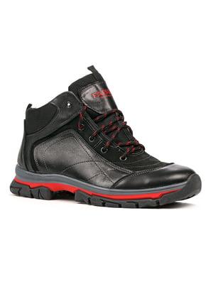 Черевики чорно-червоні | 5291018