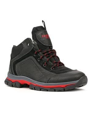 Ботинки черно-красные | 5291021