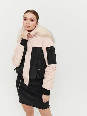 Куртка розово-черная | 5287318