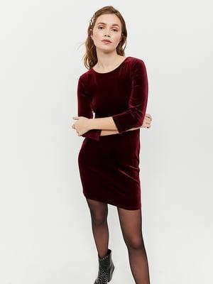 Платье бордовое | 5287398