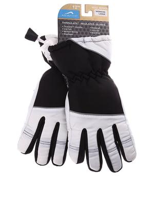 Рукавиці лижні чорно-білі | 5292179