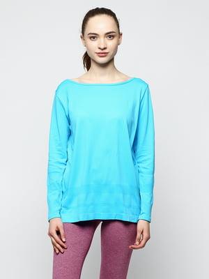 Лонгслив голубой | 5292244