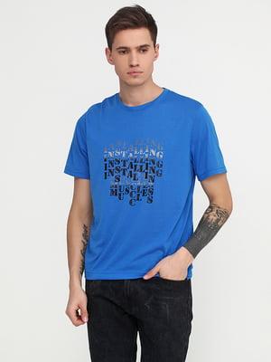 Футболка синяя | 5292377