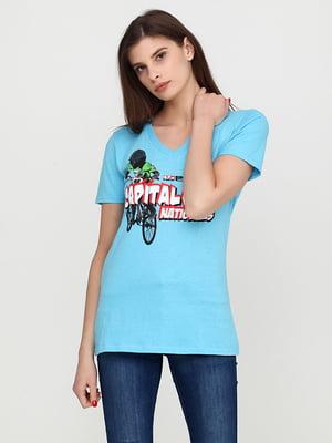 Футболка голубая | 5292433
