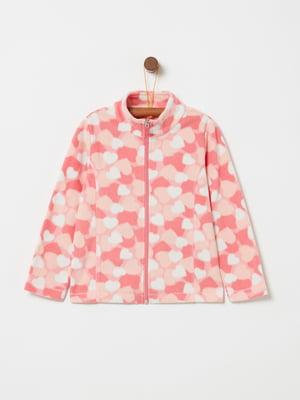 Кофта розовая в принт | 5294325