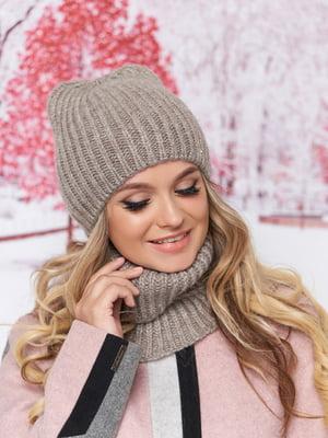 Комплект: шапка и шарф-хомут | 5294595