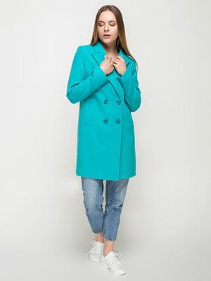 Пальто бирюзовое | 5252157
