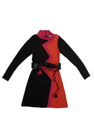 Платье оранжево-черное | 5294727