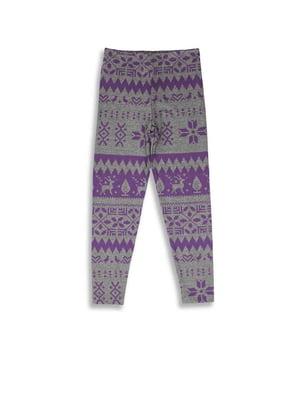 Леггинсы серо-фиолетовые | 5294749