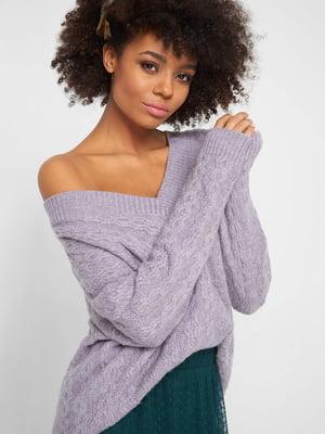 Пуловер бузкового кольору | 5295253