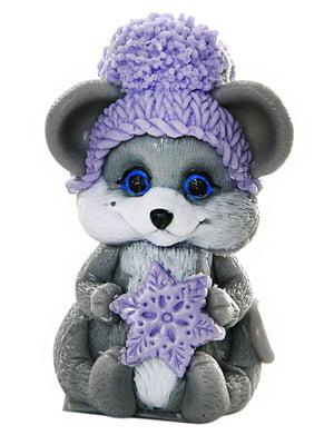 Мыло ручной работы символ года «Мышка в шапочке со снежинкой»   5295330