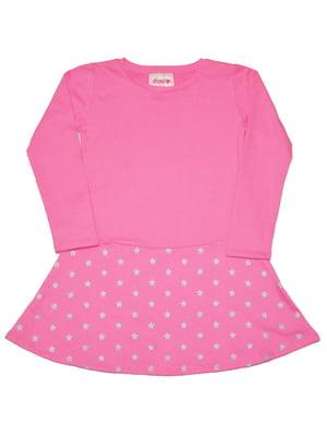 Сукня рожева з принтом | 5295659