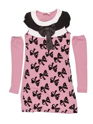 Платье сиреневый с принтом | 5292539