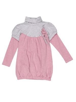 Туніка сіро-рожева в смужку | 5292568