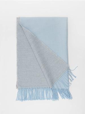 Шарф серо-голубой | 5296196