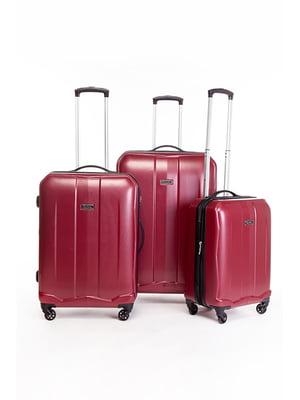 Набір валіз червоних (3 шт.) | 5298010