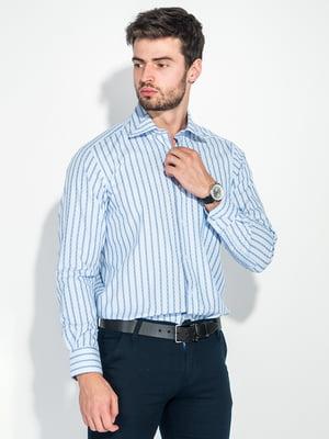 Сорочка біло-блакитна | 5287810