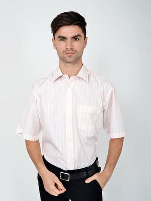 Рубашка молочно-коричневого цвета | 5287829