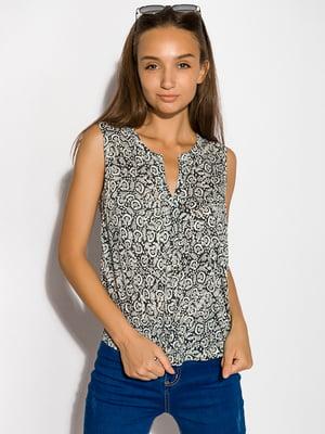 Блуза серо-белая   5298920