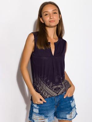 Блуза темно-синяя   5298924