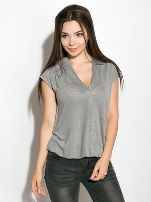 Блуза сизого цвета   5298929