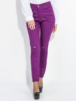 Брюки фиолетовые | 5299032