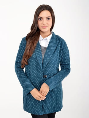 Кардиган сине-зеленый | 5299134