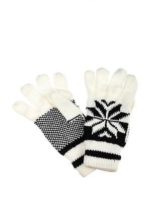 Перчатки бело-черные | 5299163
