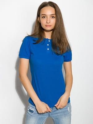 Футболка-поло голубая | 5299247